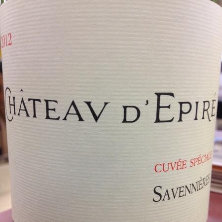 Château d'Epiré Cuvée Spéciale Savennières Chenin Blanc 2014