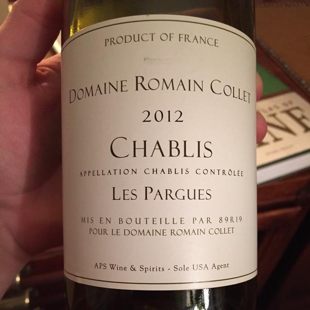 Les Pargues Chablis Chardonnay 2014