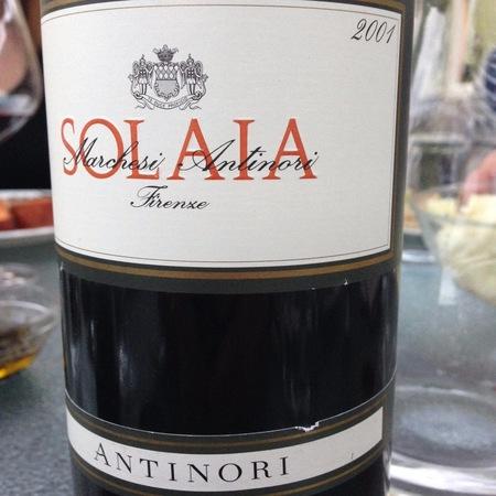 Marchesi Antinori Solaia Cabernet Sauvignon Blend 2001