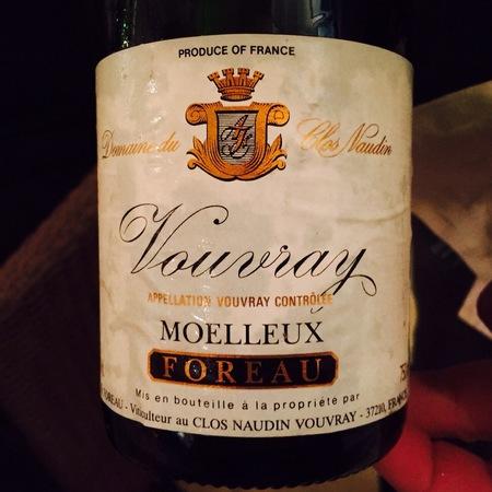 Foreau (Domaine du Clos Naudin ) Moelleux Vouvray Chenin Blanc 2005