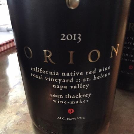 Sean Thackrey Orion Rossi Vineyard Red Blend 2013
