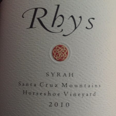 Rhys Vineyards Horseshoe Vineyard Syrah 2010