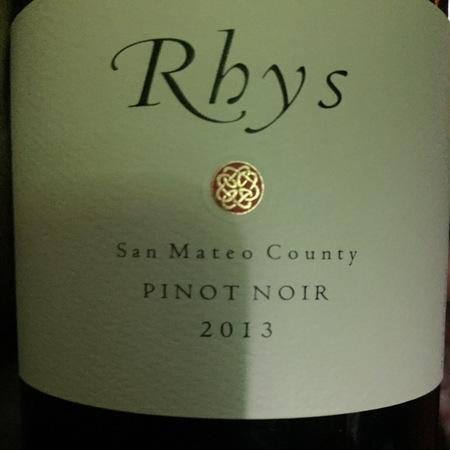 Rhys San Mateo County Pinot Noir 2013