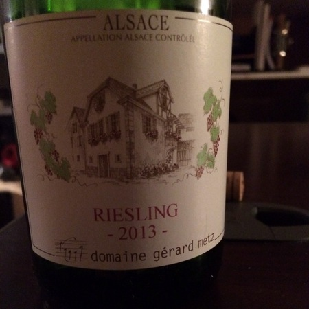 Domaine Gerard Metz Alsace Riesling 2013