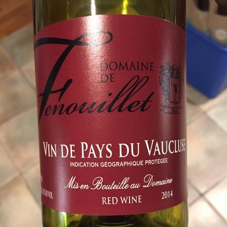 Domaine de Fenouillet Vin de Pays de Vaucluse Red Rhone Blend 2015
