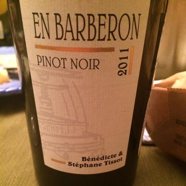 En Barberon Côtes du Jura Pinot Noir 2014