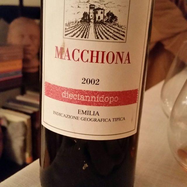 Macchiona Dieciannidopo Emilia Red Blend 2002
