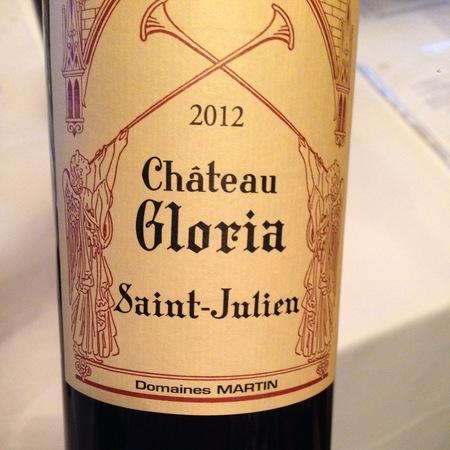 Château Gloria  Saint-Julien Red Bordeaux Blend 2012