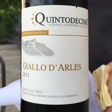 """Azienda Agricola Quintodecimo """"Giallo d'Arles"""" Greco di Tufo DOCG 2013"""