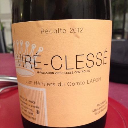 Les Héritiers du Comte Lafon Viré-Clessé Chardonnay 2012