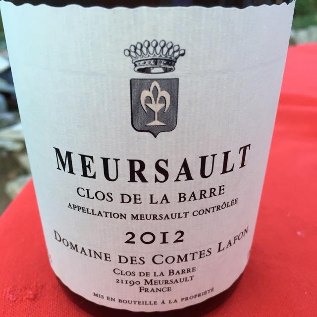 Clos de la Barre Meursault Chardonnay  2012
