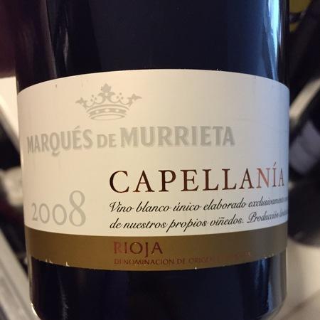 Marqués de Murrieta Capellanía Blanco Rioja Viura NV