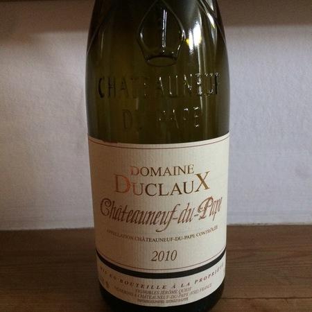 Domaine Duclaux  Chateauneuf-du- Pape Red Rhone Blend 2010
