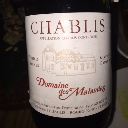 Domaine des Malandes Cuvée Tour du Roy Vieilles Vignes Chablis Chardonnay 2015 (750ml 12bottle)