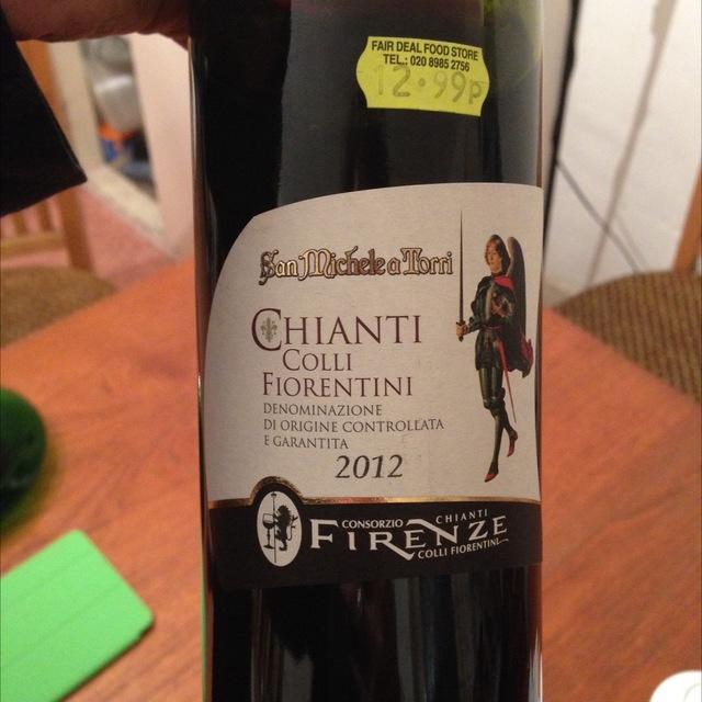 Chianti Colli Fiorentini Sangiovese Blend 2012