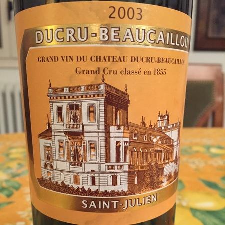Château Ducru-Beaucaillou Saint-Julien Red Bordeaux Blend 2003