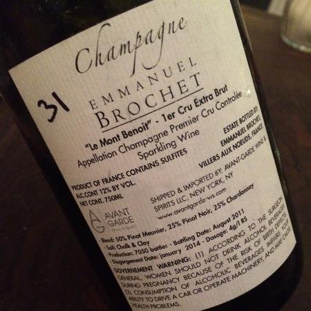 Emmanuel Brochet Le Mont Benoit 1er Cru Extra Brut Champagne Blend NV