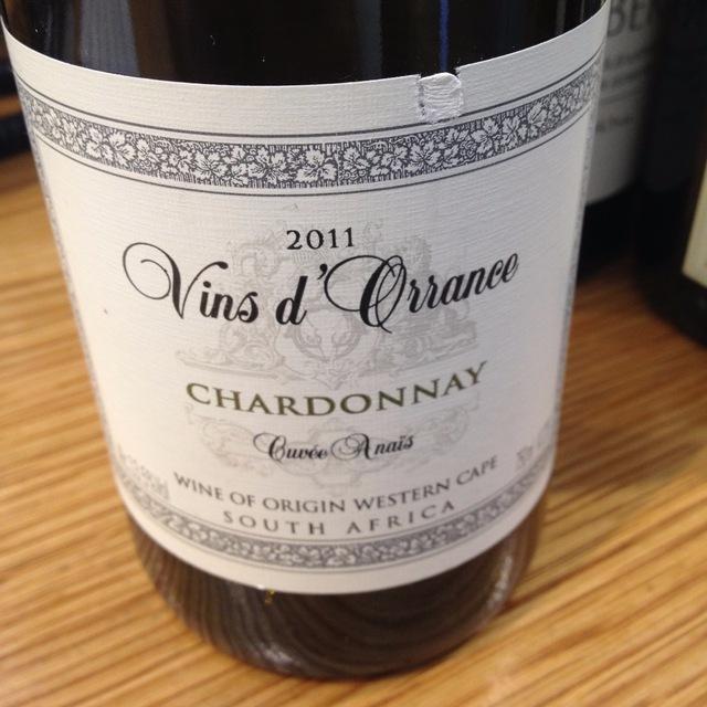 Cuvée Anais Chardonnay 2011
