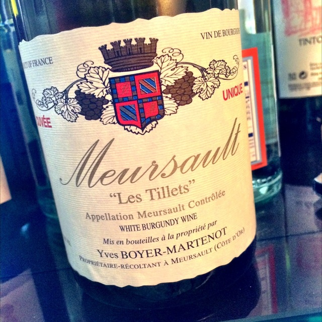 Les Tillets Meursault Chardonnay 2014