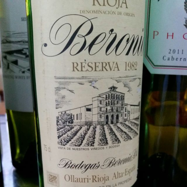 Reserva Rioja Tempranillo Blend 1982