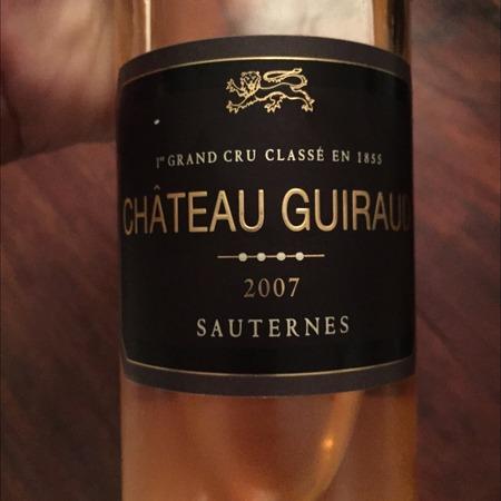 Château Guiraud Sauternes Sémillon-Sauvignon Blanc Blend 2007