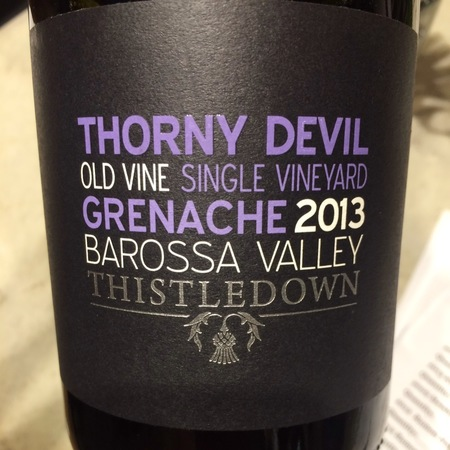 Hillcroft Thistledown Thorny Devil Barossa Valley Grenache 2013
