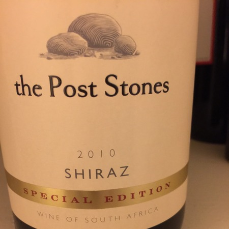 the Post Stones Special Edition Shiraz 2010