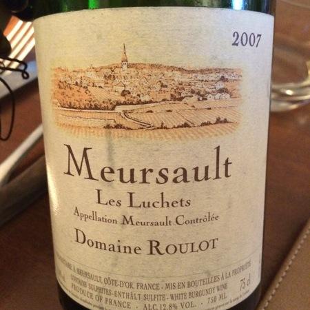 Domaine Roulot Les Luchets Meursault Chardonnay 2007