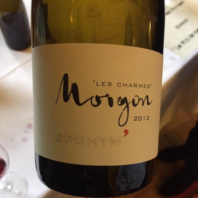 Eponym' Les Charmes Morgon Gamay 2013