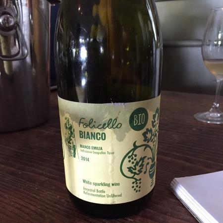 Folicello Bianco Sparkling Emilia White Blend 2015