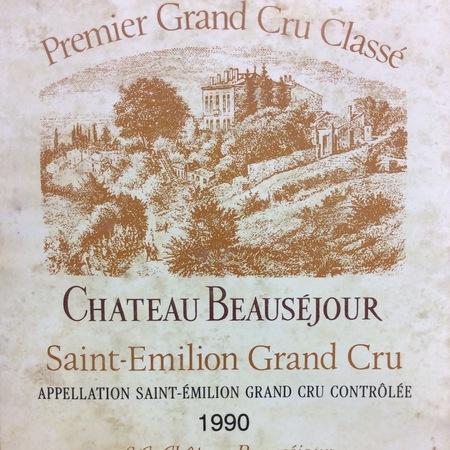 Château Beauséjour St. Émilion Red Bordeaux Blend 1990