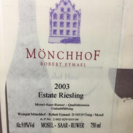 Mönchhof Robert Eymael  Mosel Estate Riesling NV