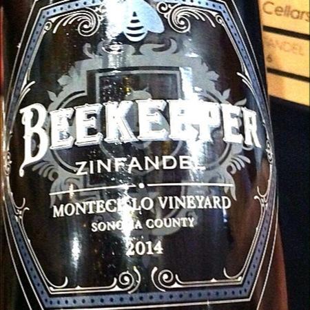Beekeeper Cellars Montecillo Vineyard Zinfandel 2014