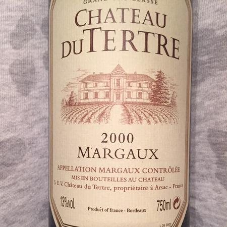 Château du Tertre Margaux Red Bordeaux Blend 2000