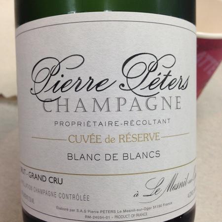 Pierre Péters Cuvée de Réserve Brut Blanc de Blancs Grand Cru Champagne Chardonnay