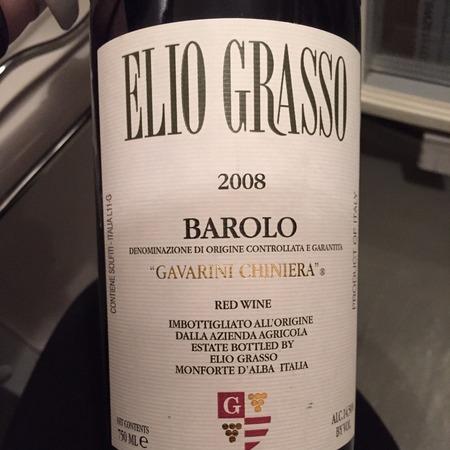 Elio Grasso Gavarini Chiniera Barolo Nebbiolo 2008