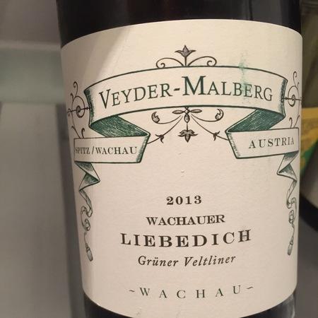 Veyder-Malberg Wachauer Liebedich Grüner Veltliner 2015