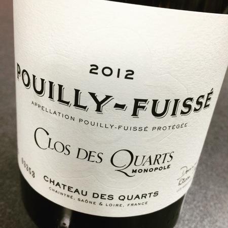 Chateau des Quarts (Dominique Lafon & Olivier Merlin) Clos des Quarts Monopole Pouilly-Fuissé Chardonnay 2014
