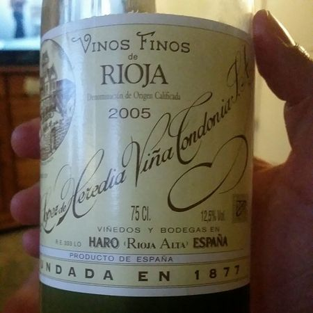 R. López de Heredia Viña Tondonia Reserva Rioja Tempranillo Blend 2005