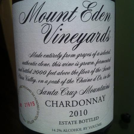 Mount Eden Vineyards Estate Bottled Santa Cruz Mountains Chardonnay 2014