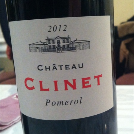 Château Clinet Pomerol Red Bordeaux Blend   2012