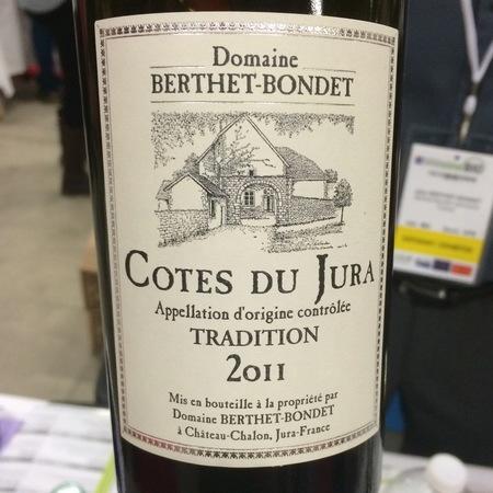 Domaine Berthet Bondet Tradition Côtes du Jura Savagnin Chardonnay 2011