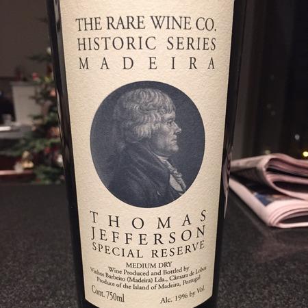 Vinhos Barbeito (Rare Wine Company Historic Series) Thomas Jefferson Special Reserve Madeira NV