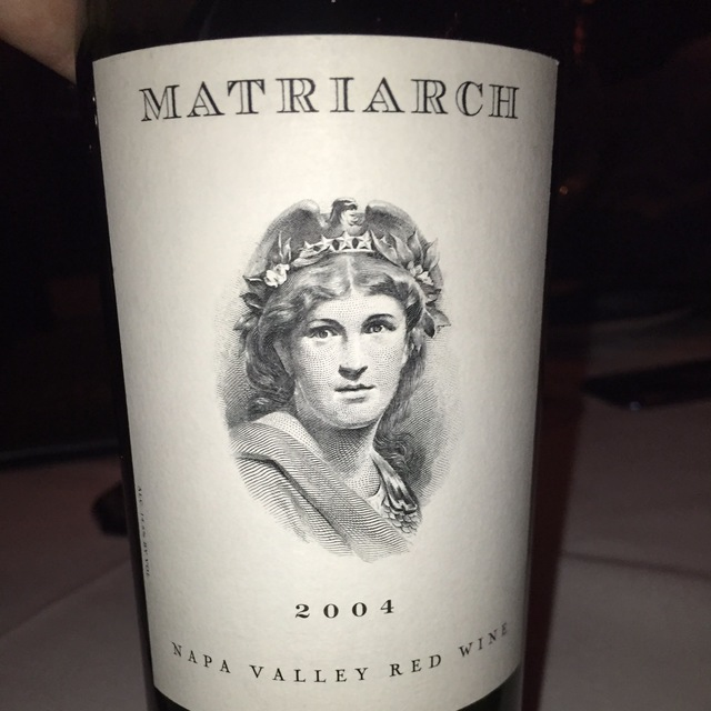 Matriarch Napa Valley Red Bordeaux Blend 2004
