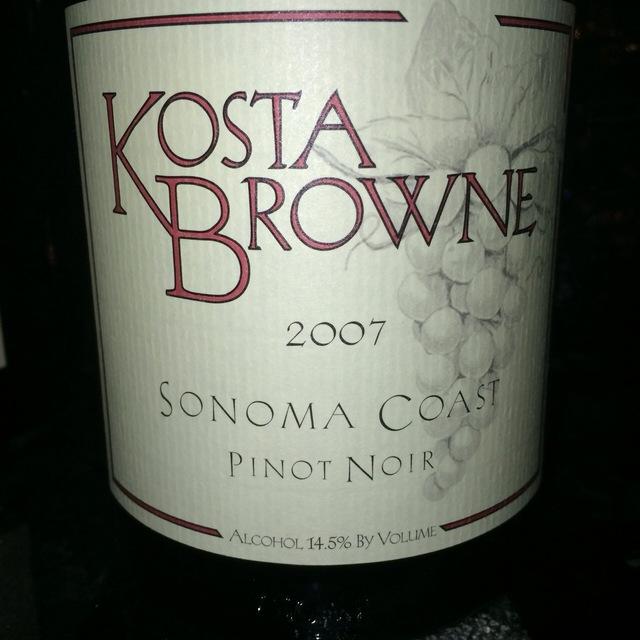 Sonoma Coast Pinot Noir 2007