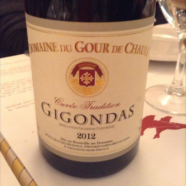 Cuvée Tradition Gigondas Grenache 2012