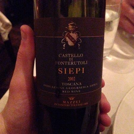 Marchesi Mazzei Siepi Castello di Fonterutoli Toscana Super Tuscan Blend  2002