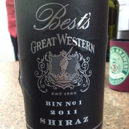 Best's Bin No 1 Great Western Shiraz  2015