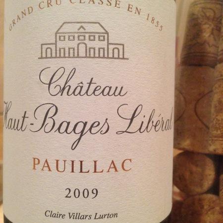 Château Haut-Bages Libéral Pauillac Red Bordeaux Blend 2009