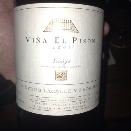 Artadi Viña El Pisón Rioja Tempranillo 2001